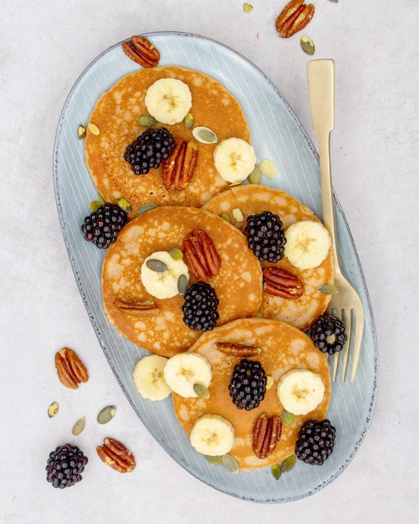 American-pancakes-met-volkorenmeel
