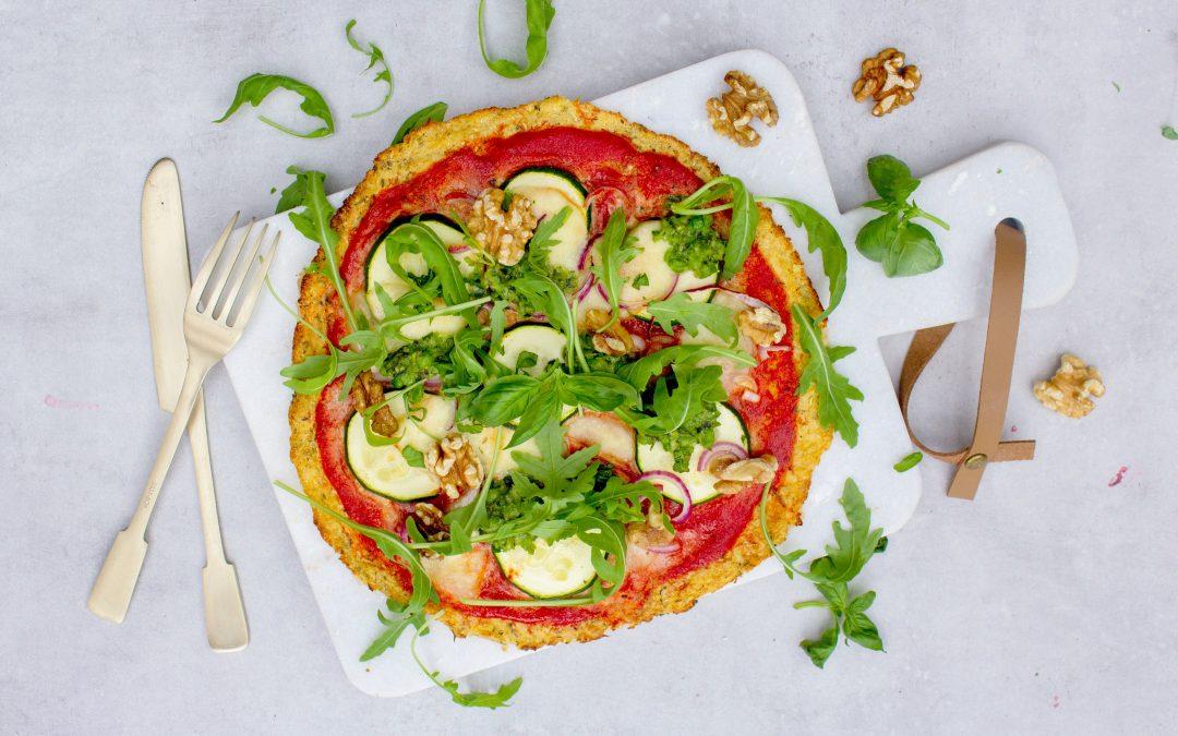 Bloemkool pizzabodem zelf maken