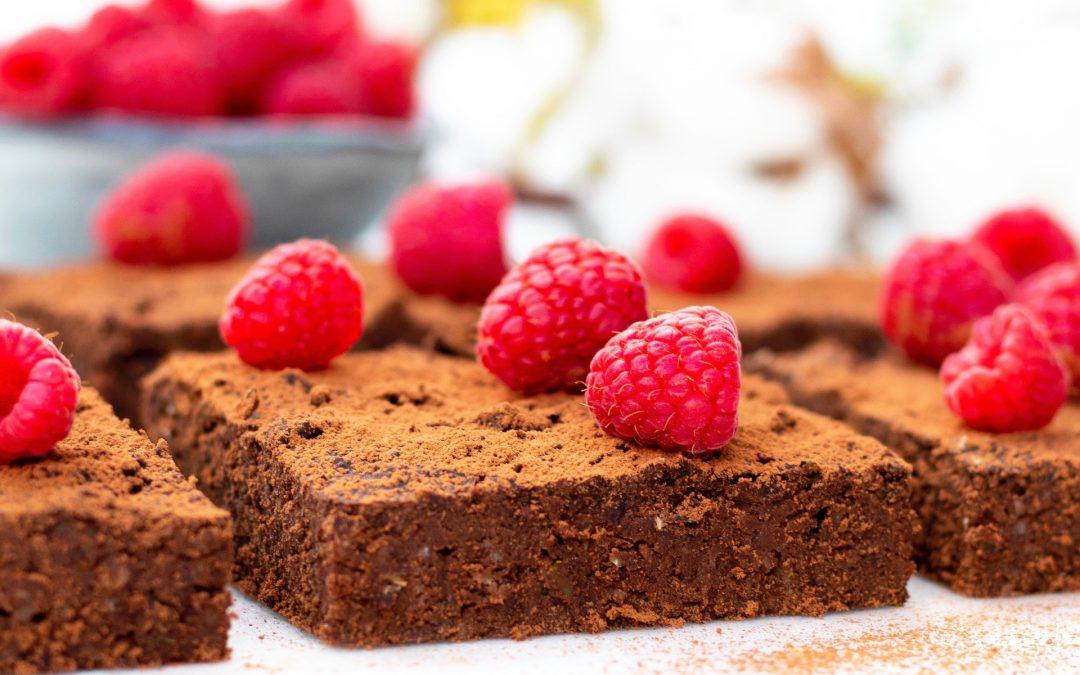 Zwarte bonen brownie met courgette
