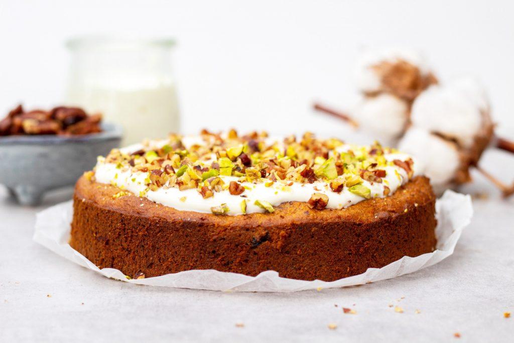 Gezonde carrot cake taart