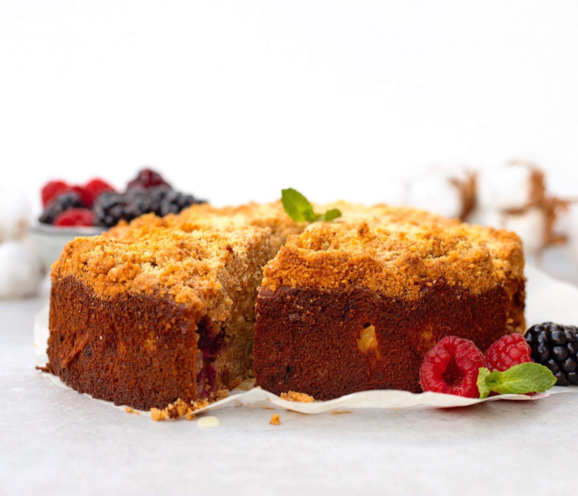 Gezonde kwark taart met crumble