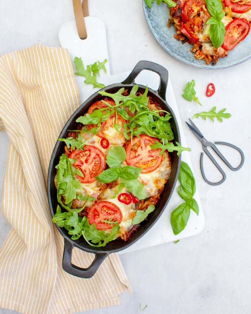 Pasta-ovenschotel-met-aubergine