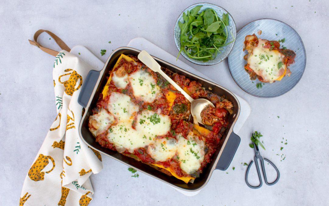 Koolhydraatarme lasagne met pompoen