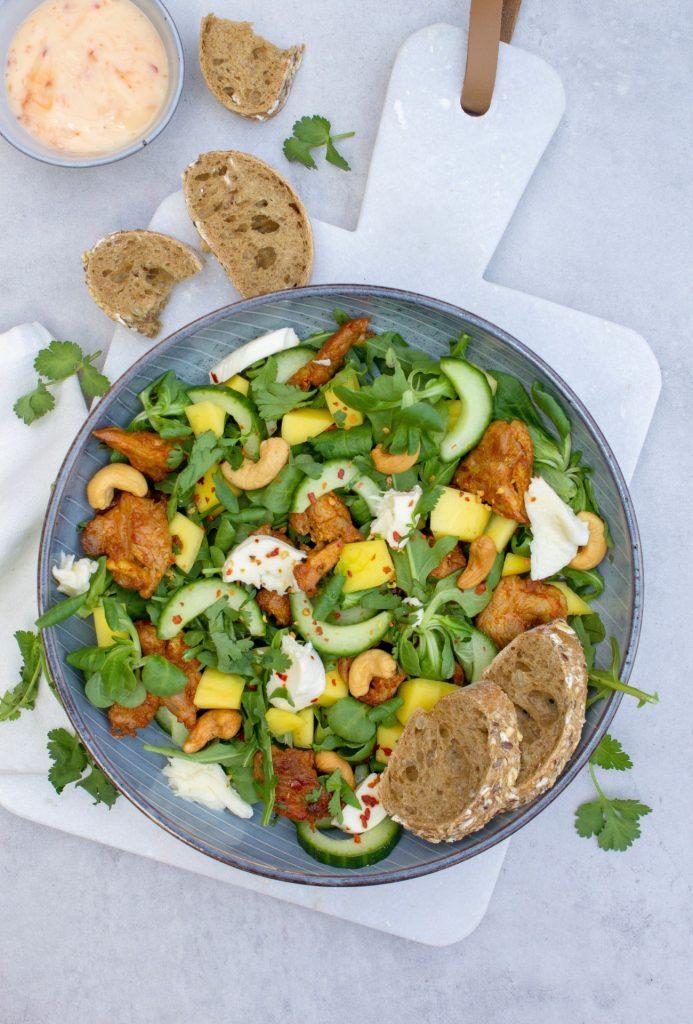 Salade-met-kip-en-mango-1