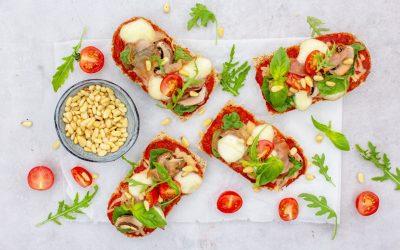 Volkoren pizzabroodjes