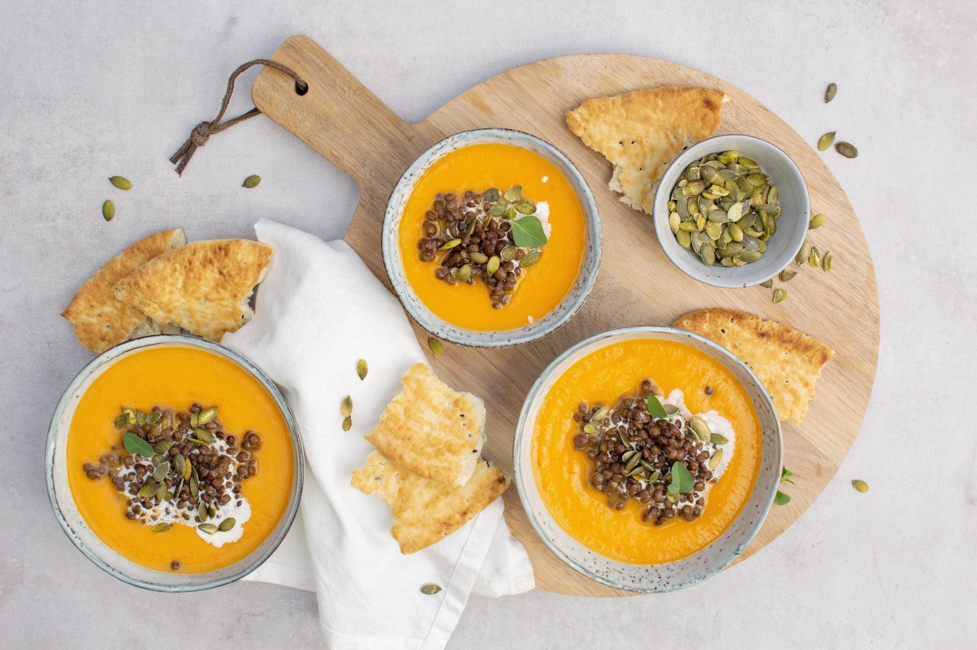 Zoete aardappel paprika soep foodlies