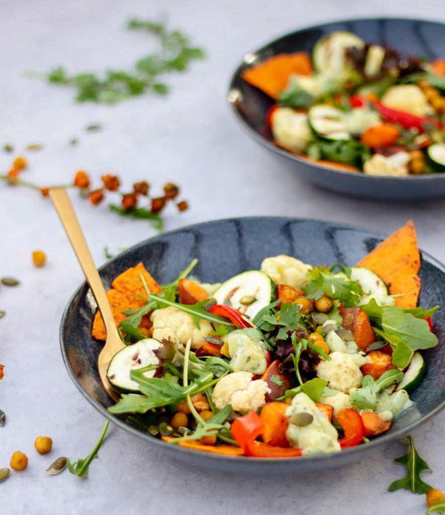 Zoete-aardappel-salade-met-bloemkool-foodlies