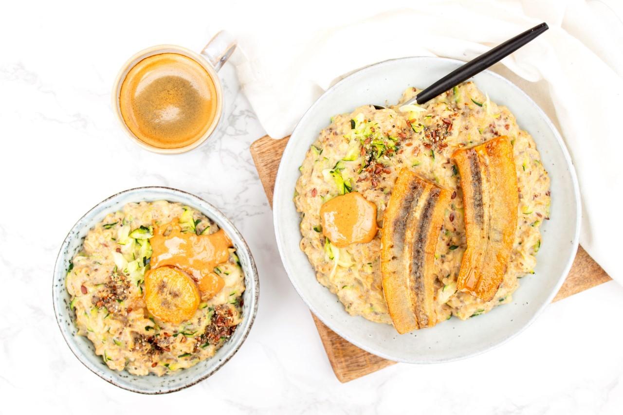 Havermoutpap met courgette foodlies