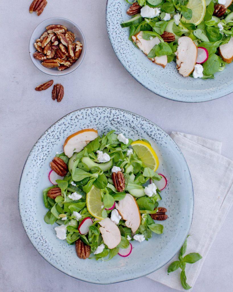 Salade-met-kip-en-geitenkaas-foodlies
