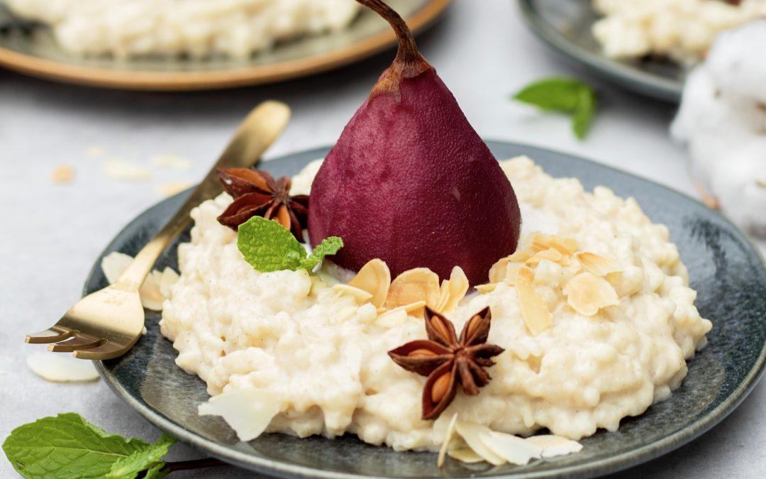 Rijstpudding met stoofperen