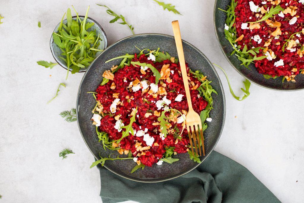 Risotto met rode biet en geitenkaas foodlies