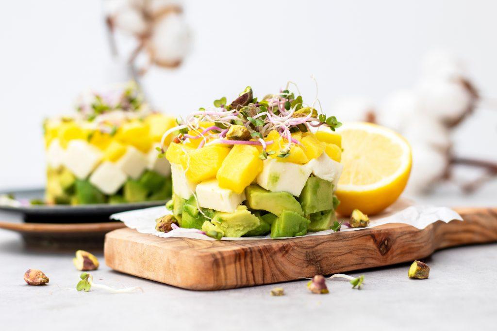 Vegetarische tartaar mango foodlies.nl