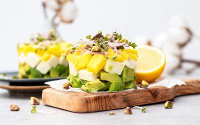 Vegetarische tartaar met mango