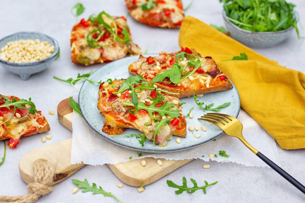 Volkoren pizzabroodjes foodlies