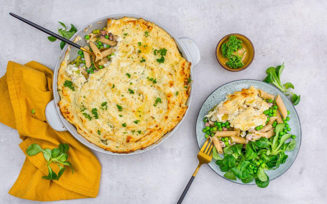 Gezonde ovenschotel met pasta