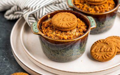 Oven baked oats met courgette en speculoos