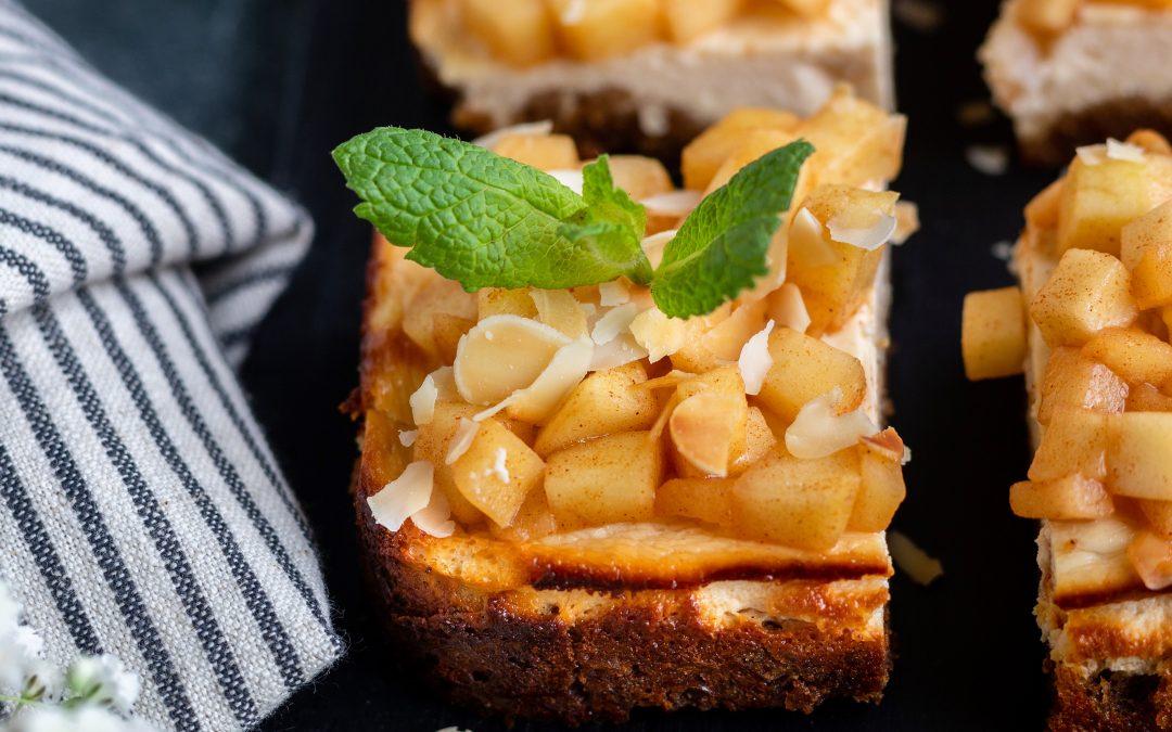 Gezonde cheesecake bites met appel